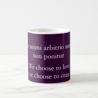 Amor animi arbitrio sumitur coffee mug