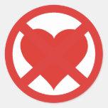 Amor anti pegatina redonda