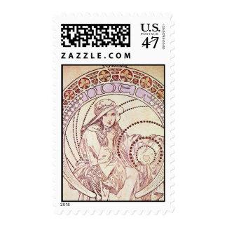 Amor antiguo timbre postal