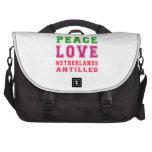 Amor Antillas holandesas de la paz Bolsas De Portatil