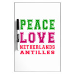 Amor Antillas holandesas de la paz Pizarra Blanca