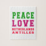 Amor Antillas holandesas de la paz Puzzle Con Fotos