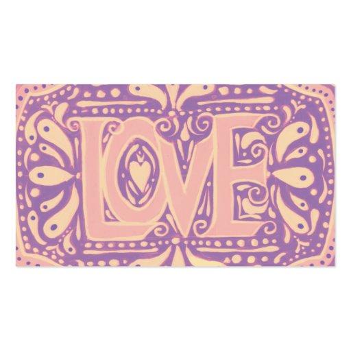 Amor apacible tarjetas de visita