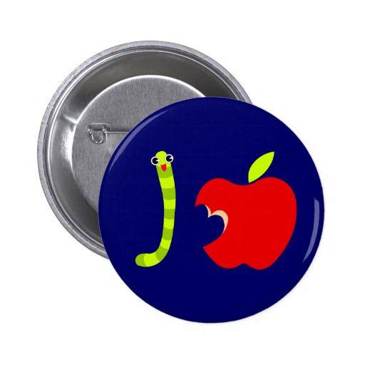 Amor Apple abotono Pin Redondo De 2 Pulgadas