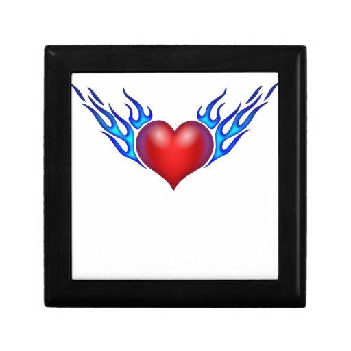 Amor ardiente del corazón usted cajas de regalo