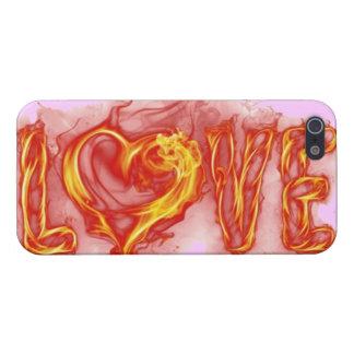 Amor ardiente iPhone 5 carcasas