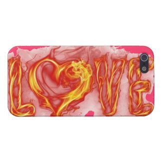 Amor ardiente iPhone 5 funda