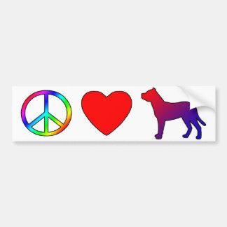 Amor Argentina Dogos de la paz Etiqueta De Parachoque
