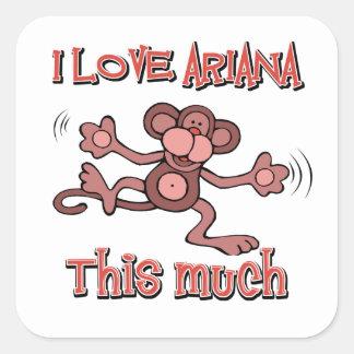 amor Ariana Pegatina Cuadrada