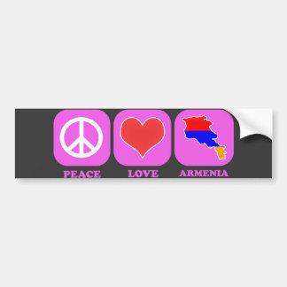 Amor Armenia de la paz Pegatina Para Auto