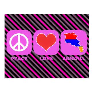 Amor Armenia de la paz Tarjeta Postal