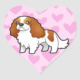 Amor arrogante del perro de aguas de rey Charles Pegatina En Forma De Corazón