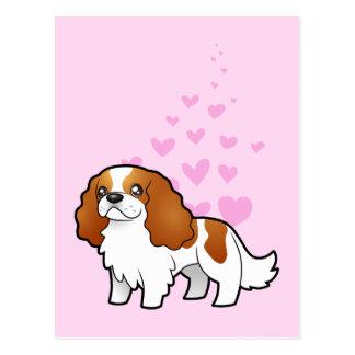 Amor arrogante del perro de aguas de rey Charles Postales