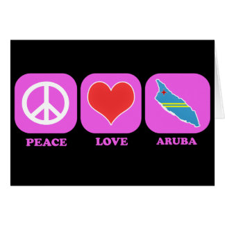 Amor Aruba de la paz Felicitación