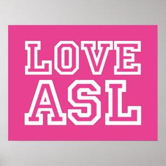 Amor ASL. un poster para su sala de clase
