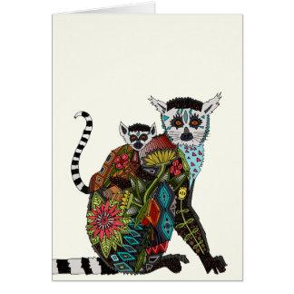 Amor atado anillo del Lemur Tarjeta
