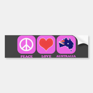 Amor Australia de la paz Pegatina Para Auto