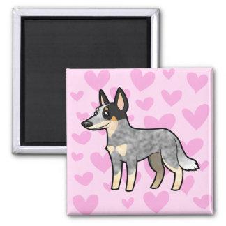 Amor australiano del perro/del Kelpie del ganado Imán Cuadrado