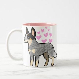 Amor australiano del perro/del Kelpie del ganado Taza De Dos Tonos