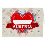 Amor Austria del vintage I Felicitacion