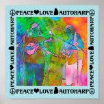 Amor Autoharp de la paz Póster