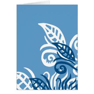 amor azul de dios del diseño del leafe usted tarjeta de felicitación