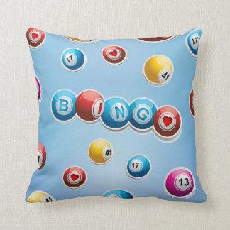 Amor azul del bingo almohada