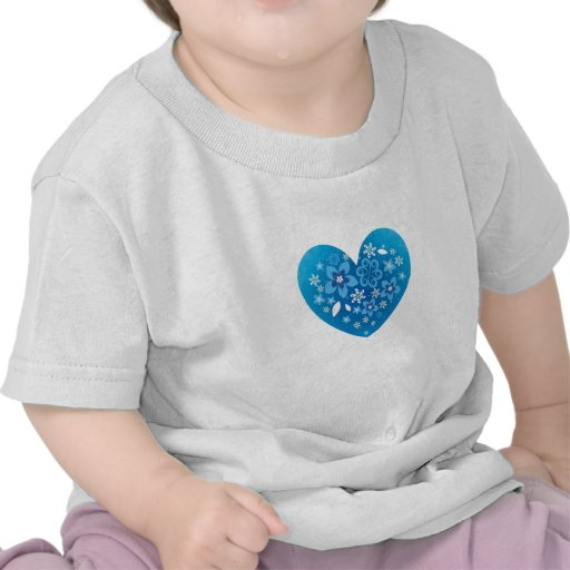 Amor azul del corazón camisetas