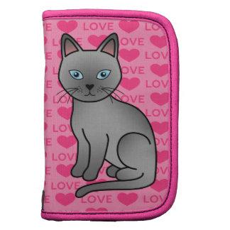 Amor azul del gato de Tonkinese Organizadores