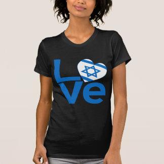 AMOR azul israelí Camisetas