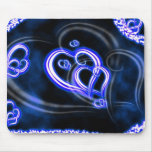 Amor azul tapete de raton