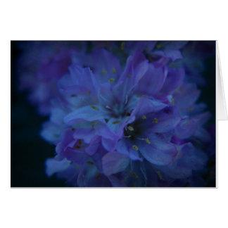 Amor azul tarjeta de felicitación