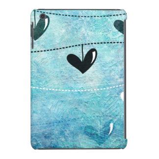 Amor azul y negro en un diseño de la secuencia funda de iPad mini