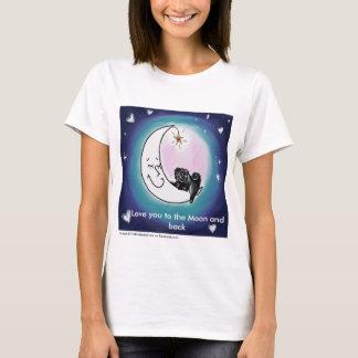Amor B4 usted a la luna y a la camiseta trasera