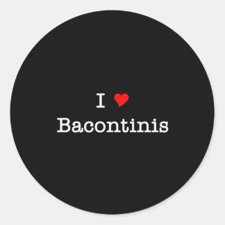 Amor Bacontinis del tocino I Pegatina Redonda