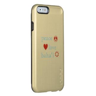 Amor Bahai de la paz Funda Para iPhone 6 Plus Incipio Feather Shine