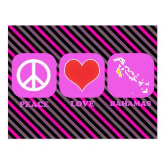 Amor Bahamas de la paz Postales