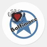 Amor Baltimore Etiquetas Redondas