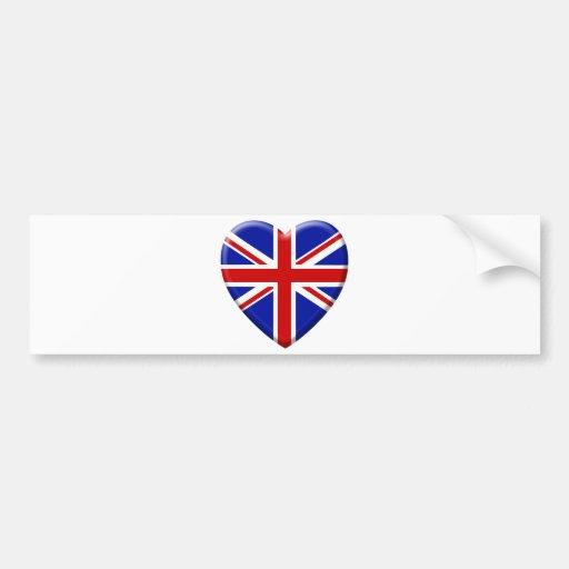 amor bandera el Reino Unido Inglaterra Pegatina Para Auto