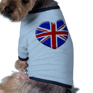 amor bandera el Reino Unido Inglaterra Camiseta Con Mangas Para Perro