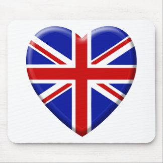 amor bandera el Reino Unido Inglaterra Alfombrillas De Raton