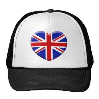 amor bandera Inglaterra Gorros
