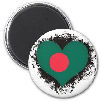 Amor Bangladesh del vintage I Imán Redondo 5 Cm