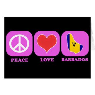 Amor Barbados de la paz Tarjetón