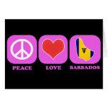 Amor Barbados de la paz Tarjeta De Felicitación