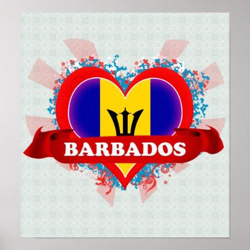 Amor Barbados del vintage I Impresiones