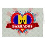 Amor Barbados del vintage I Tarjeton