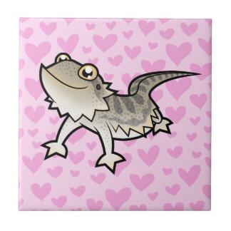Amor barbudo del dragón/del dragón de Rankin Azulejo Cuadrado Pequeño