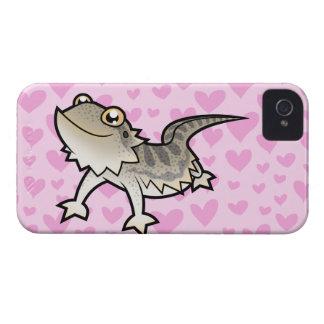 Amor barbudo del dragón/del dragón de Rankin iPhone 4 Fundas