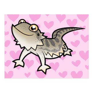 Amor barbudo del dragón/del dragón de Rankin Postales